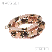 4PC SET BRACELET #83549-STOM-G $4.50