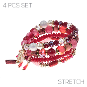 4PC SET BRACELET #83549-SIM-G $4.50