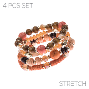 4PC SET BRACELET #83549-PEM-G $4.50