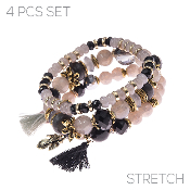4PC SET BRACELET #83549-JTM-G $4.50