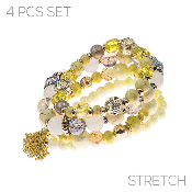 4PC SET BRACELET #83549-JOM-G $4.50