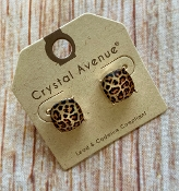 LEOPARD STUD EARRINGS #26062LCTM-G $3.00