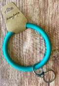 SILICONE KEYRING #KC374X180Z TURQUOISE