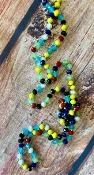 "60"" CRYSTAL BEAD NECKLACE #SM1001-MT-2 MULTI $3.75"