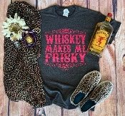 WHISKY MAKES ME FRISKY TSHIRT 8PK $48