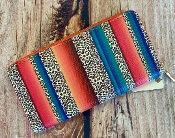 SERAPE LEOPARD ZIPPER WALLET #MB0068