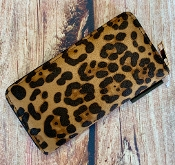 BROWN LEOPARD ZIPPER WALLET #WT377X213