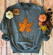 INSIDE OUT THANKFUL LEAF SWEATSHIRT 6PK $99