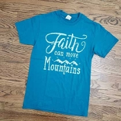 FAITH CAN MOVE MOUNTAINS TSHIRT 8PK $48.00
