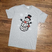 LET IT SNOW SNOWMAN TSHIRT 8PK $48