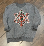 INSIDE OUT LEOPARD SNOWFLAKE SWEATSHIRT 6PK $99