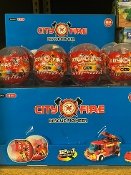 CITY FIRE BLOCK EGGS 24PC DISPLAY $24.00