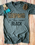 LEOPARD IS THE NEW BLACK VNECK TSHIRT 8PK $60.00