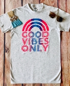 GOOD VIBES ONLY TSHIRT 8PK $48.00