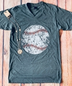 DISTRESSED BASEBALL VNECK TSHIRTS 8PK $60