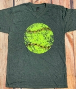 DISTRESSED SOFTBALL VNECK TSHIRTS 8PK $60