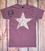 DISTRESSED STAR  CREW NECK TSHIRT 8PK $60
