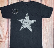 DISTRESSED STAR V NECK GRAPHITE TSHIRT 8PK $60