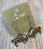 LEOPARD BUFFALO EARRINGS #SEO901-LEOPARD $3.50