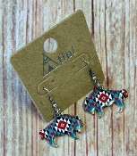 AZTEC BUFFALO EARRINGS #SEO901-MULTI1 $3.50