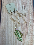 PAINTED CACTUS NECKLACE SET #SS0727-WGMUL $5.00