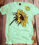 BE BEAUTIFUL SUNFLOWER MINT CREW NECK 8PK $60.00