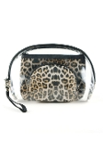 LEOPARD AND CLEAR 3PC POUCHES #MP0075LTLEOP $5.75
