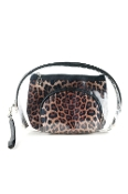 LEOPARD AND CLEAR 3PC POUCHES #MP0075DRKLEOP $5.75
