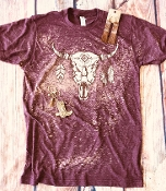 BLEACHED COWSKULL SHIRTS 8PK $80