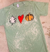 FALL LOVE BLEACH SAGE CREW NECK SHIRT SIZE SMALL $10