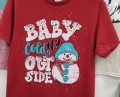 BABY ITS COLD SNOWMAN SHIRT 8PK $48