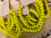 CRYSTAL STRETCH BRACELET #83317JO YELLOW