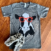 CLYDE THE COW BLEACHED VNECK TSHIRT 8PK $80