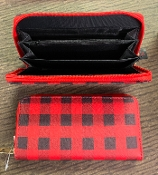 BLACK & WHITE PLAID WALLET #WT377X239
