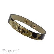 BY GRACE LEATHER MAGNETIC BRACELET #83910LCTM-WG $3.00