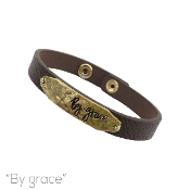 BY GRACE LEATHER MAGNETIC BRACELET # 83910STO-WG $3.00