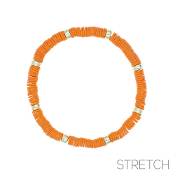 CLAY DISC STRETCH BRACELET #83814HY-G $2.00
