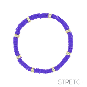 CLAY DISC STRETCH BRACELET #83814TZ-G $2.00