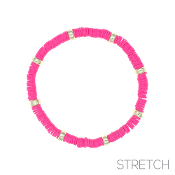 CLAY DISC STRETCH BRACELET #83814FU-G $2.00
