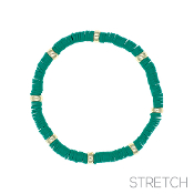 CLAY DISC STRETCH BRACELET #83814EM-G $2.00
