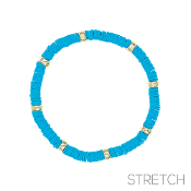 CLAY DISC STRETCH BRACELET #83814AQ-G $2.00